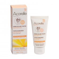 Acorelle Tónovací opalovací krém na obličej SPF 50 apricot 50 ml