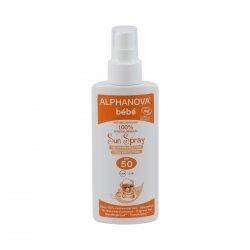 Alphanova Opalovací mléko ve spreji pro miminka SPF 50 125 ml