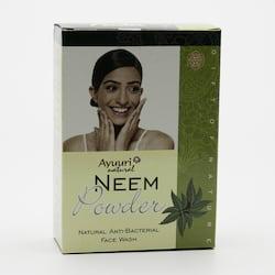 Ayuuri Natural Práškový antibakteriální přípravek na obličej Neem 100 g