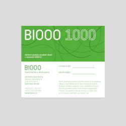 Biooo Dárkový poukaz 1000 Kč 1 ks