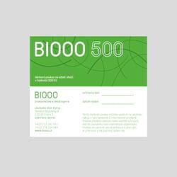 Biooo Dárkový poukaz 500 Kč 1 ks