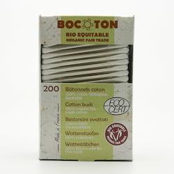 Bocoton Vatové tyčinky z biobavlny, cotton buds 200 ks