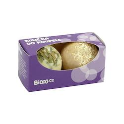 Ceano Cosmetics Dárkový set č. 3 kuliček do koupele Citronová tráva a Kokos 2 kuličky