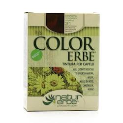 Color Erbe Barva na vlasy Kaštanová fialově mahagonová 31, Natur 135 ml