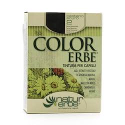 Color Erbe Barva na vlasy Tmavě kaštanová 02, Natur 135 ml