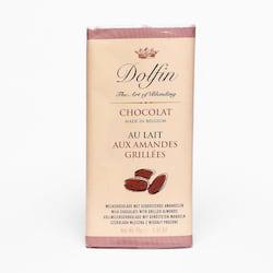 Dolfin Čokoláda mléčná s praženými mandlemi 70 g