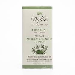 Dolfin Čokoláda mléčná se zeleným čajem Sencha 70 g
