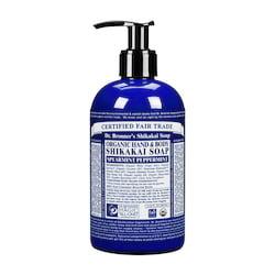 Dr. Bronner´s Tekuté mýdlo na tělo i vlasy Shikakai, Spearmint-Peppermint 355 ml