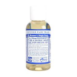 Dr. Bronner's Tekuté universální mýdlo ALL-ONE!, Peppermint 60 ml
