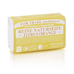 Dr. Bronner's Tuhé mýdlo Citrus-Orange 140 g