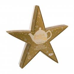 English Tea Shop Vánoční zlatá hvězda, 6 pyramidek 1 ks sada, (6 ks v balení)