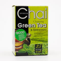 Fudco Čaj zelený s mátou  62,5 g, 25 ks