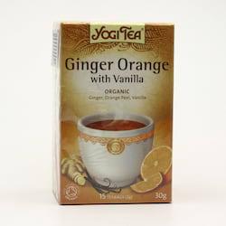 Yogi Tea Čaj Ginger Orange Vanilla 17 ks, 30 g