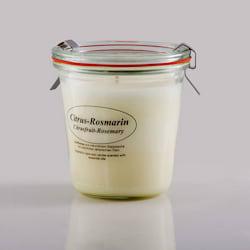 Kerzenfarm Přírodní svíčka Citrus Rosemary, čiré sklo 8,7 cm
