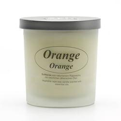 Kerzenfarm Přírodní svíčka Orange, mléčné sklo 1 ks, 8 cm