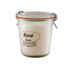 Kerzenfarm Přírodní svíčka Rose, čiré sklo 8,7 cm