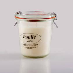 Kerzenfarm Přírodní svíčka Vanilla, čiré sklo 8,7 cm