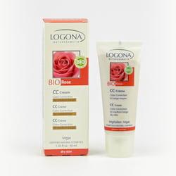 Logona CC krém 02 středně béžová, Bio Růže 40 ml