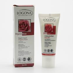 Logona Noční krém, Bio Růže 40 ml