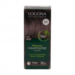 Logona Prášková barva na vlasy intenzivně černá, 101 100 g