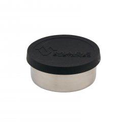 Made Sustained Nerezový kulatý box na jídlo se silikonovým víkem, malý 150 ml, černý