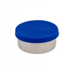 Made Sustained Nerezový kulatý box na jídlo se silikonovým víkem, malý 150 ml, modrý