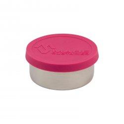 Made Sustained Nerezový kulatý box na jídlo se silikonovým víkem, malý 150 ml, růžový
