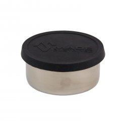 Made Sustained Nerezový kulatý box na jídlo se silikonovým víkem, střední 320 ml, černý