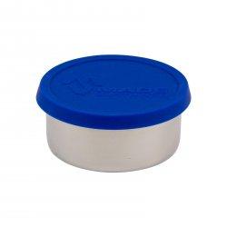 Made Sustained Nerezový kulatý box na jídlo se silikonovým víkem, střední 320 ml, modrý