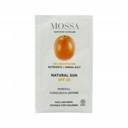 MOSSA Minerální opalovací krém SPF 20, Natural Sun 2 ml
