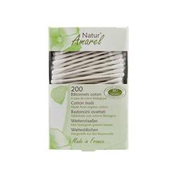 Natur Amarel Vatové tyčinky z biobavlny, cotton buds 200 ks