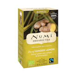 Numi Organic Tea Zelený čaj Decaf Ginger Lemon 32 g, 16 ks