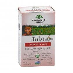 Organic India Čaj Tulsi Cinnamon Rose, porcovaný 18 ks, 32,4 g