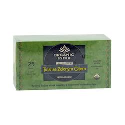 Organic India Čaj Tulsi Green, porcovaný 43,5 g, 25 ks