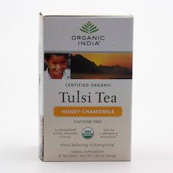 Organic India Čaj Tulsi Honey Chamomile, porcovaný 30,6 g, 18 ks