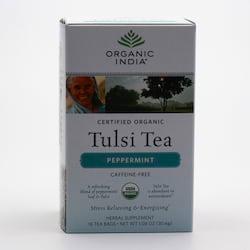 Organic India Čaj Tulsi Peppermint, porcovaný 30,6 g, 18 ks