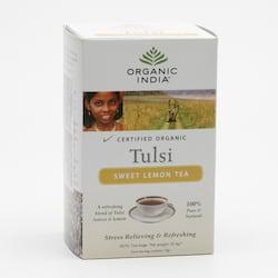 Organic India Čaj Tulsi Sweet Lemon, porcovaný 32,4 g, 18 ks