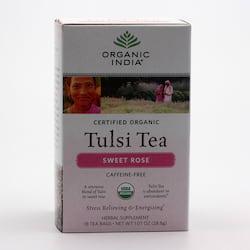 Organic India Čaj Tulsi Sweet Rose, porcovaný 28,8 g, 25 ks