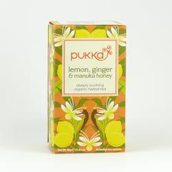 Pukka Čaj ayurvédský Lemon, Ginger and Manuka Honey 20 ks, 40 g