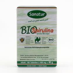 Sanatur Spirulina bio, tablety 100 tablet, 40 g