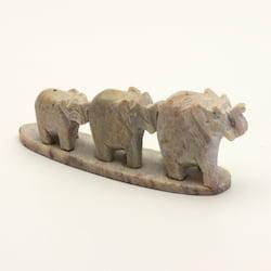 Stojánek kamenný na vonné tyčinky, sloni v řadě 1 ks