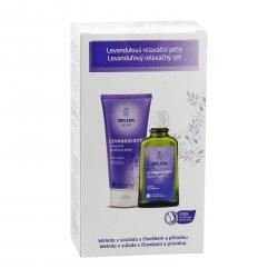 Weleda Levandulová relaxační péče, set 1 ks, (200 ml + 100 ml)