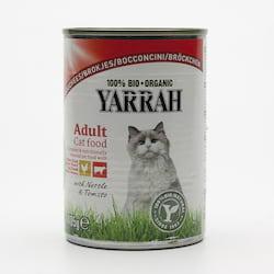 Yarrah Kousky kuřecí a hovězí pro kočky 405 g