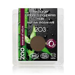 ZAO Matné oční stíny 203 Dark Brown 3 g náplň