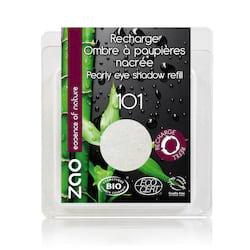 ZAO Třpytivé oční stíny 101 Pearly White 3 g náplň