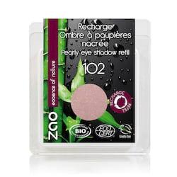 ZAO Třpytivé oční stíny 102 Pearly Pink Beige 3 g náplň