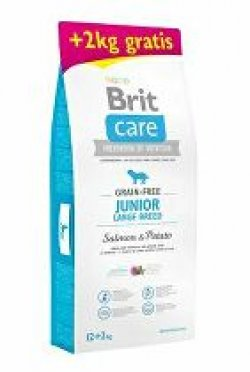 Brit Care Dog Grain-free Junior LB Salmon&Potato12+2kg