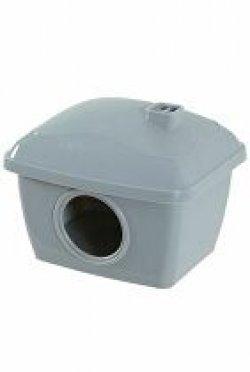 Domek pro křečky plast šedý Zolux