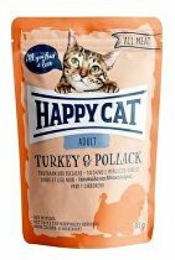 Happy Cat kapsa All Meat Adult Truthahn&Seelachs 85g