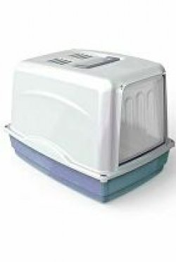 WC kočka Vicky kryté s filtrem, 54x39x39cm-modrá